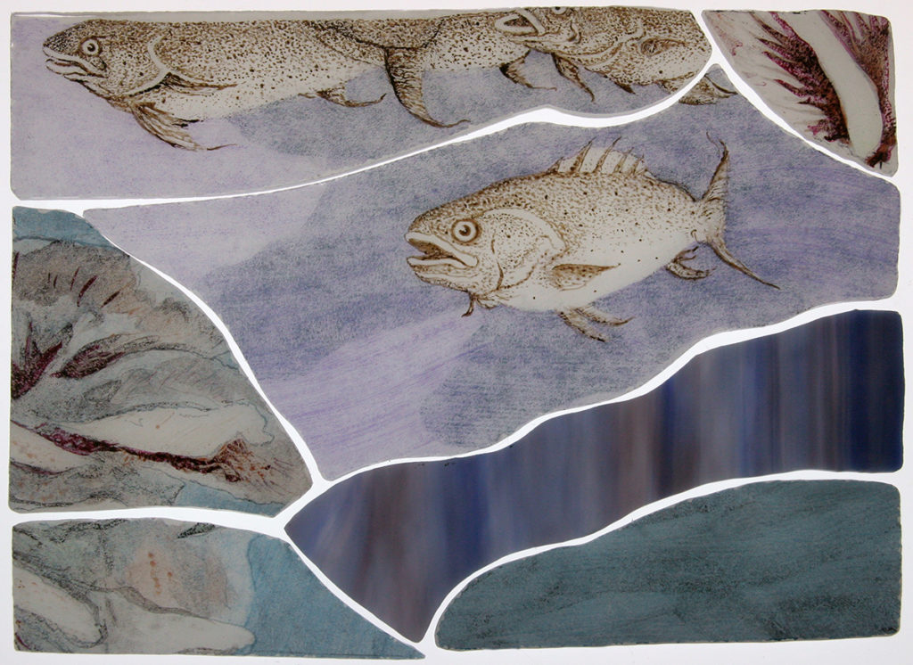 Fishes in glas